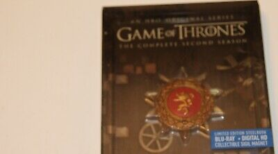 Game of Thrones: The Complete Second Season (Blu-ray Disc, 2015, 5-Disc Set,