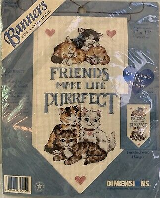 "NMI Counted Cross Stitch Making Friends #7059 Stitch A Card Kit 4/"" x 6/"" Embossed"