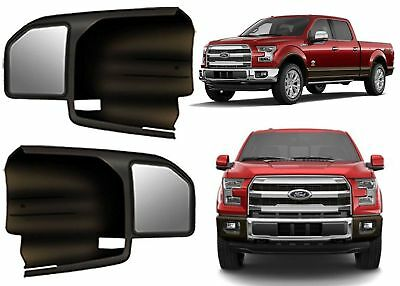 2 Towing Mirrors 2015-2019 F-150 CUSTOM FIT Side Extension Slide On Trailer Boat