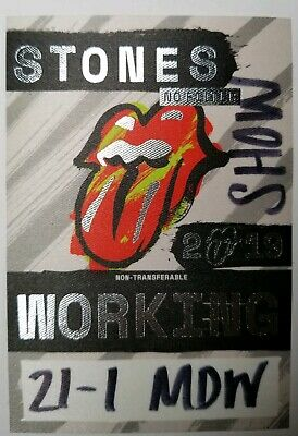 Rolling Stones authentic Working 6/21/2019 Chicago tour Backstage Pass.