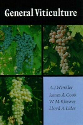 General Viticulture by Winkler Hardback Book The Cheap Fast Free Post