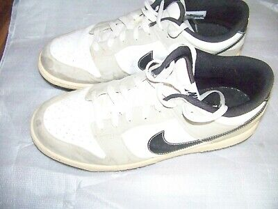low priced 6d4d9 52a04 Nike Mens Dunk Golf Shoes White Gray Black Size 10