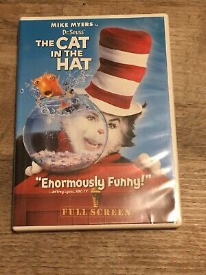 Dr. Seuss' The Cat In The Hat DVD Full Screen Edition Case Mike Myers Dreamworks
