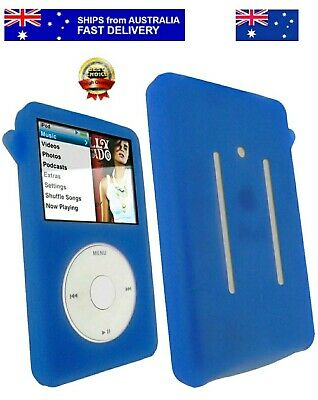 Deep Blue Silicone Skin Case Cover for iPod Classic 7th Gen 160GB 6th 80 120GB