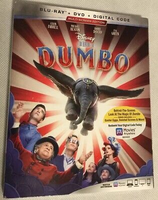 Dumbo NEW BLU-RAY/dvd/Digital Combo, Brand New With Slipcover And Free Shipping