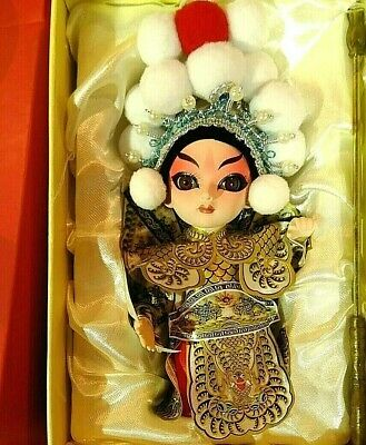 Chinese Peking Opera Make up Doll Traditional Character Exquisite Design White