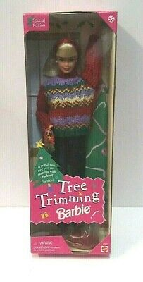 1998 Barbie Tree Trimming Barbie NIB Mattel Doll Special Edition
