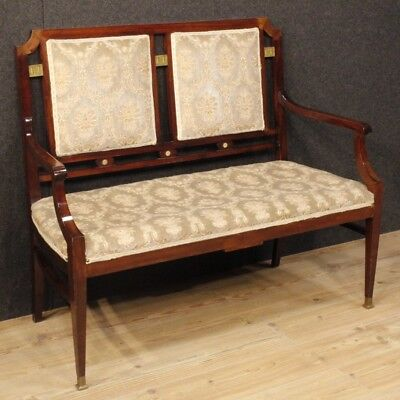 Sofa Art Deco Furniture French Living Room Armchairs Wooden Mahogany Fabric 900