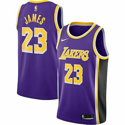 62b51afe8 Lebron James Los Angeles Lakers Nike NBA Men's Swingman Jersey PurpleBlack