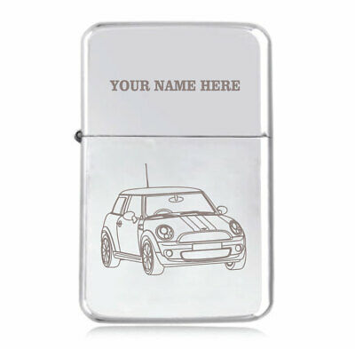 Personalised STAR Lighter in Black – Mini Cooper Design
