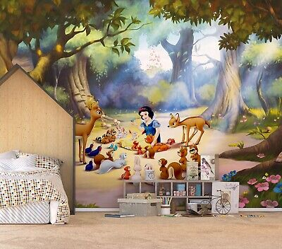 Large Size Wall Mural Wallpaper For Kids Room Snow White Disney Home Decor Idea 42 99 Picclick Uk