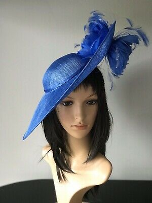 Cobalt Blue Ascot Wedding Hat Disc Hatinator Mother Of The Bride Occasion