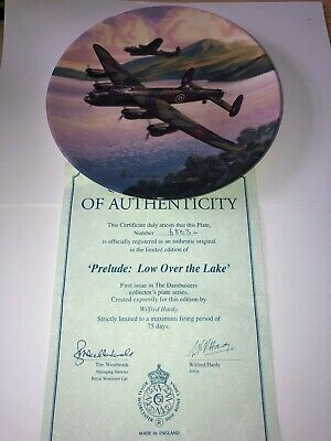 """Royal Worcester, Collectors Plate, Dambusters, """"Low Over The Lake """" BOXED COA"""