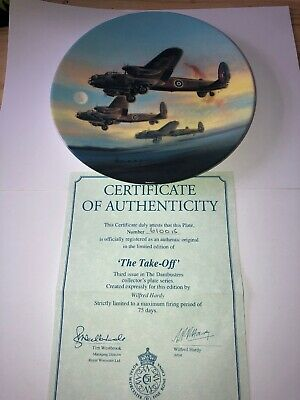 """Royal Worcester, Collectors Plate, Dambusters, """"The take Off  """" BOXED COA"""