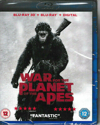 War for the Planet of the Apes - 3D Blu Ray + Blu Ray + Digital - Brand New
