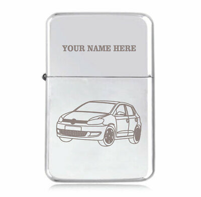 Personalised STAR Lighter in Black – Polo Design