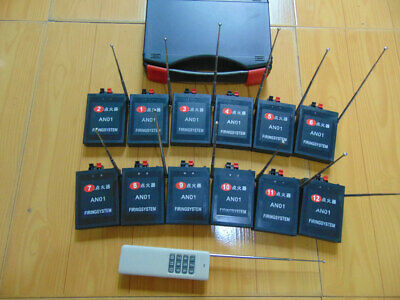 Profession 12 Cues Wireless Fireworks Firing system Remote control+12pcs gift DH