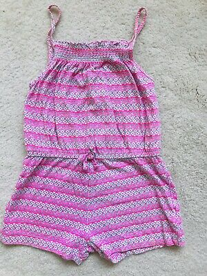 Girls Pink Short Playsuit Age 6-7 Years Grom Primark