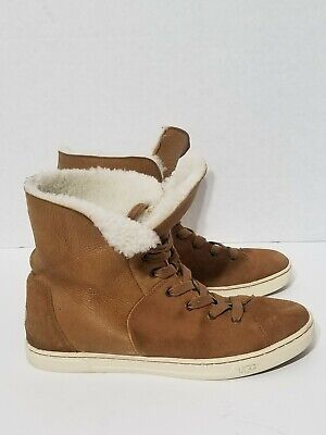 11c3a57aa79 UGG AUSTRALIA BLACK CROFT SUEDE SHEEPSKIN LINED ANKLE BOOTS High Top ...
