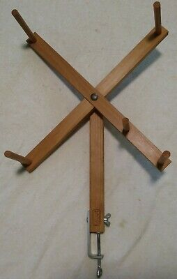 "22"" Wooden Stand Alone Table Mount Skein Winder Louet"