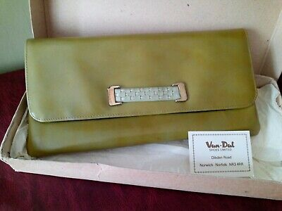 Van Dal Vintage Green Pollyanna Clutch Bag - still boxed - little used