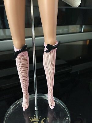 Pink stockings/socks for Fashion Royalty Doll FR FR2 Barbie Silkstone, Misaki