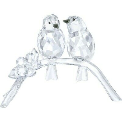 Swarovski Crystal White Eyes Birds On Branch 5249843 Brand New