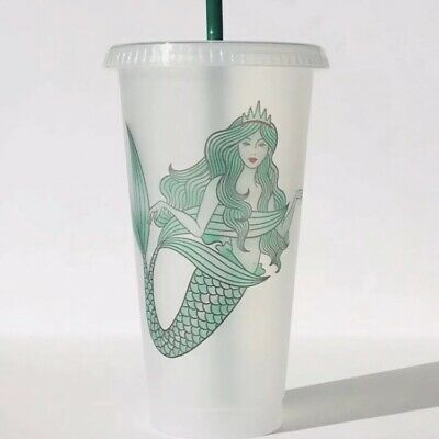 Starbucks Mermaid Siren Frosted Reusable Cold Cup without Original Logo 2019