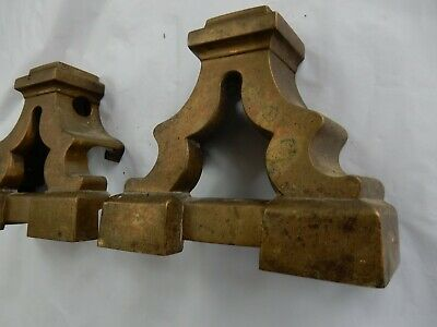 Victorian Cast Brass Plinths  Parts To Upcycle  Use As Bookends Perhaps