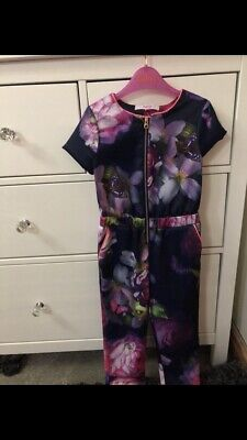 Girls Ted Baker Age 2-3 Years Floral Jumpsuit