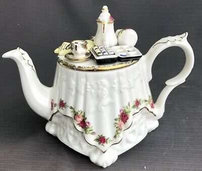 ROYAL ALBERT OLD COUNTRY ROSE LARGE Very Rare Novelty TEA POT Cardew