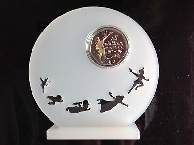 Peter Pan 50p Decal Coin Perspex Display Stand,Coin Included,Free Post