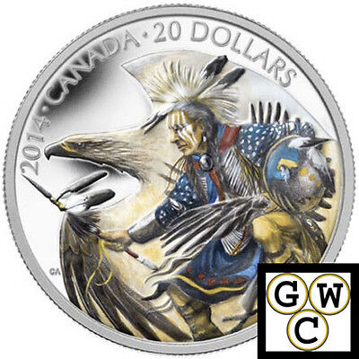 2014 Legend of Nanaboozhoo Colorized Proof $20 Silver Coin 1oz.9999Fine(13871)NT