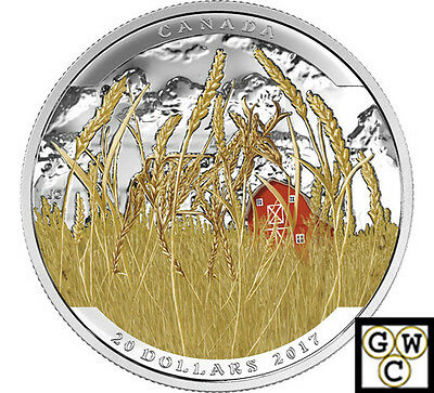 2017 Pronghorn-Landscape Illusion Color Prf $20 Silver 1oz .9999 Fine(NT)(17765)