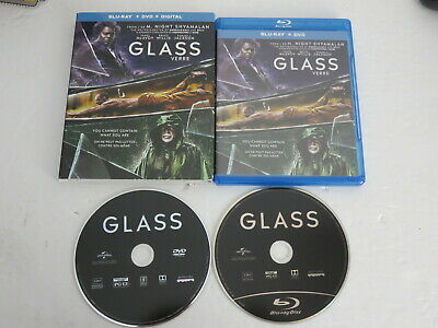Glass Blu Ray &  Dvd Bluray With Slipcover Mint 2019 Mcavoy Willis Jackson
