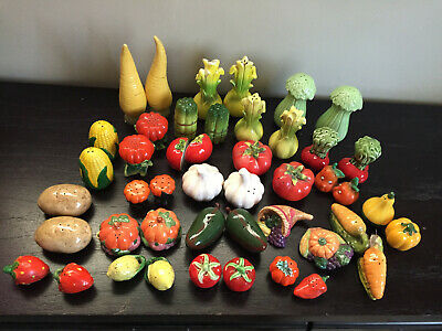 Set of 23 Fruit and Vegetable Salt and Pepper Shakers