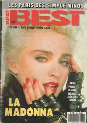 Madonna Rare French France Mag Best Cover 1987