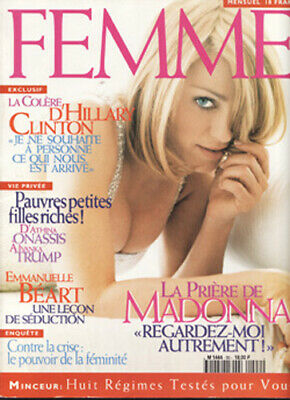 Madonna Rare French France Mag Femme Cover 1996