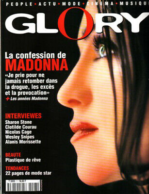 Madonna Rare French France Mag Glory Cover 1998