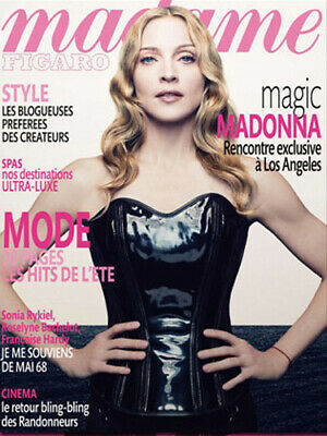 Madonna Rare French France Mag Madame Figaro Cover 2008