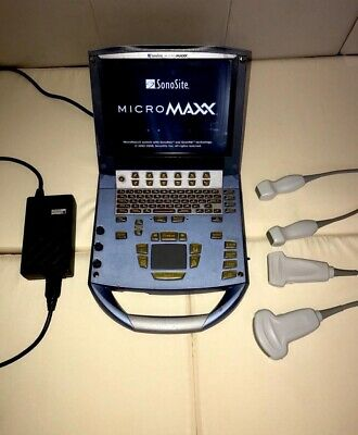 Sonosite Micromaxx Ultrasound System with 2 probes