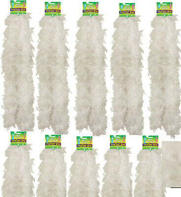 Bulk - White Feather Boa Fancy Dress 150Cm Burlesque Showgirl Hen Night Job Lot