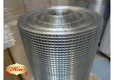 18m roll HOT DIP GALVANISED AVIARY WIRE WELDED MESH SQUARE 12 x 12 x 1.22mm