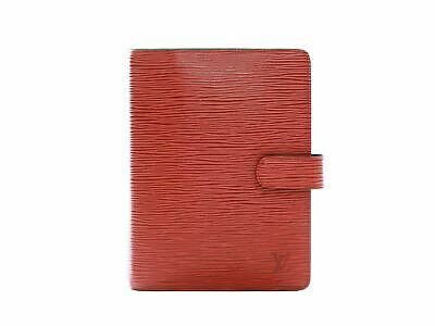 Authentic Louis Vuitton red epi Agenda MM notebook