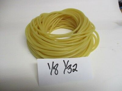 """100 FOOT COIL  OF 1/8"""" I.D x 1/32' WALL LATEX RUBBER TUBING AMBER TUBE A"""