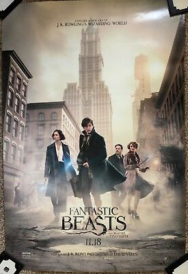 Fantastic Beasts and Where To Find Them Poster 27 x 40 Original D/S Harry Potter