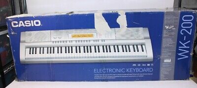 Used Pre-Owned Working Casio WK-200 76 Key USB Electronic MIDI Keyboard