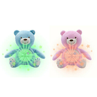 Chicco Soft Plush Baby Bear Lullaby Sound Musical Light Projector Toy 0m+