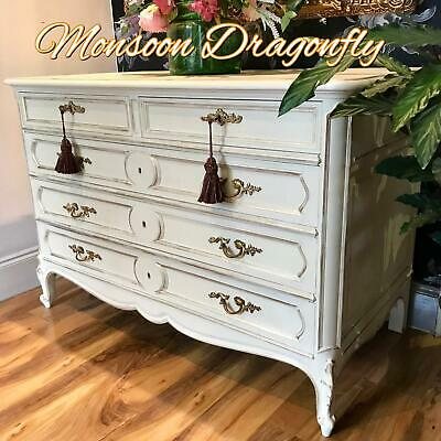 Large Fabulous Antique French Oak Chest Of Drawers Ornate original handles