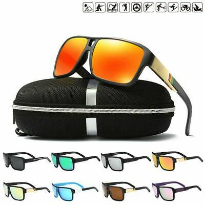DUBERY Polarized Sunglasses Men Women Square Sport Driving Fishing UV400 Goggles